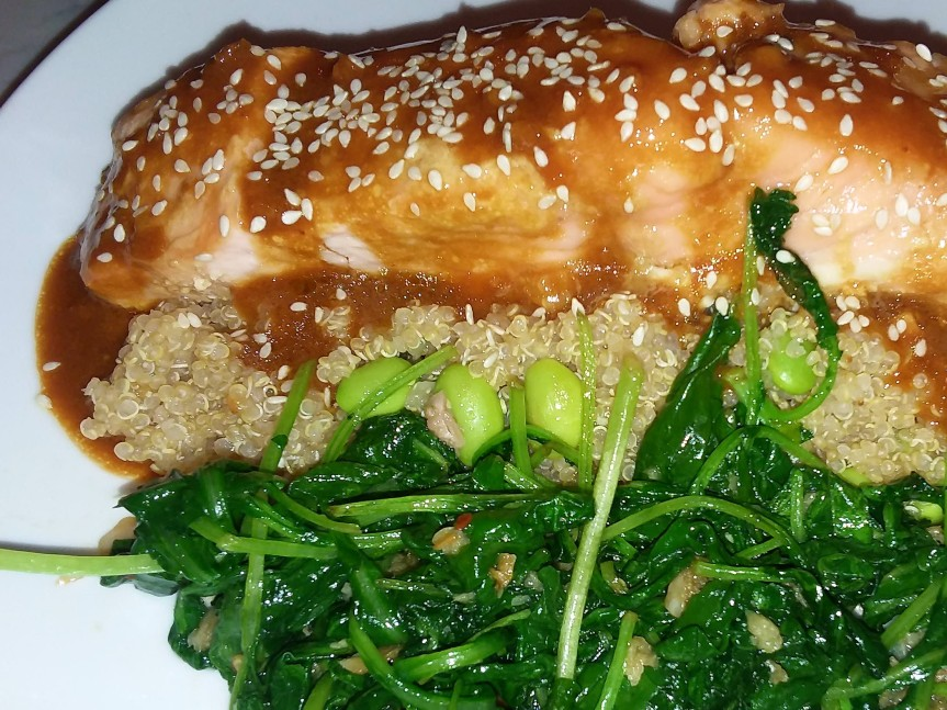Baked Salmon With SoyMarinade