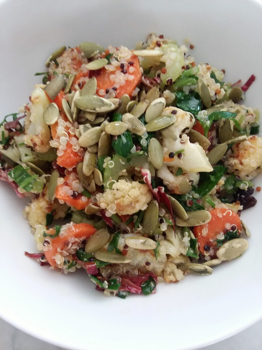Cauliflower, Carrot, Celery & Quinoa Salad