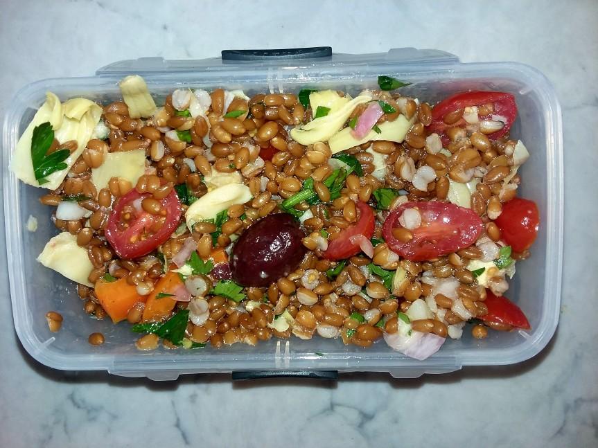 Tomato and Olive FarroSalad